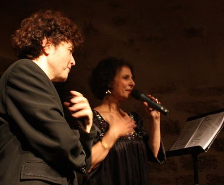 Léa Mimoun et Patrick Langlade au Jazz Cartoon, Paris (Septembre 2009)