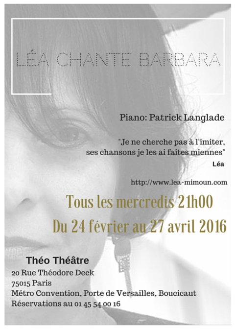 Léa Mimoun au Théo Théâtre